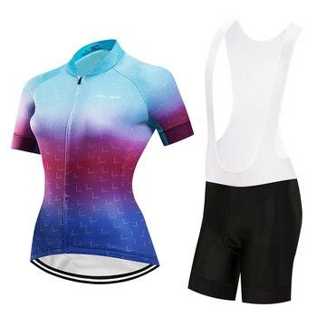 2019 verão de manga curta conjunto camisa de ciclismo Mulheres bicicleta de estrada desgaste Pro roupas bicicleta MTB esporte roupas senhoras vestido mallot terno