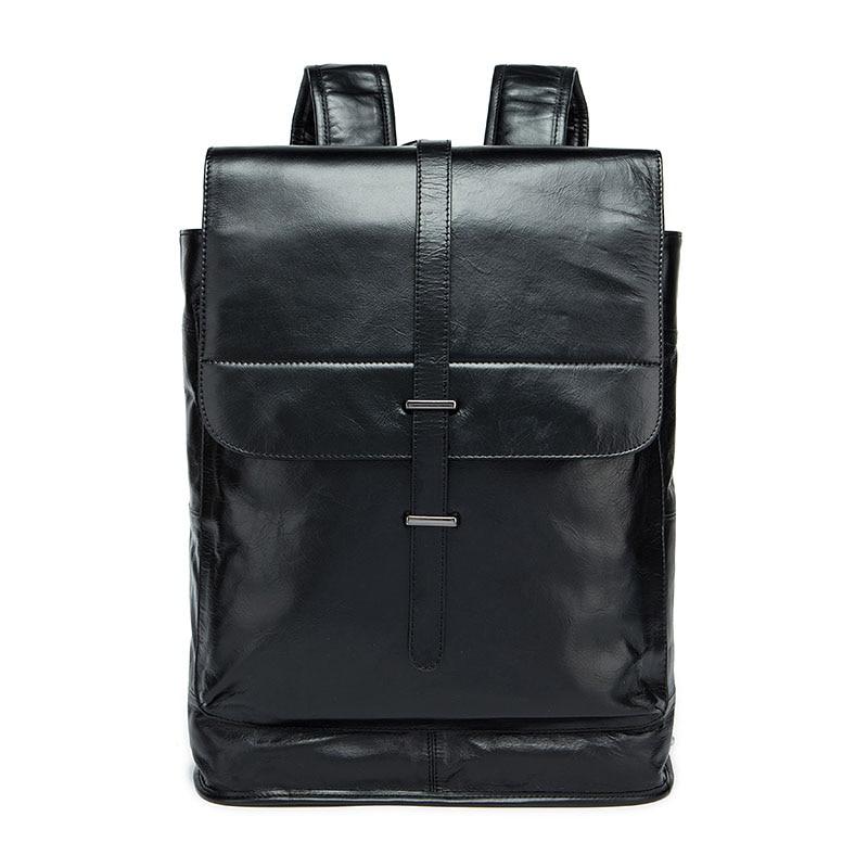 New Men Backpack Genuine Leather Famous Brand Men's Travel Bags Computer Man Shoulder Male Casual Daypacks for Men Back Pack все цены