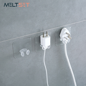 3pcs/lot Cable Wire Wall Hooks Transparent Kitchen Bathroom Hanger Wall Mounted Key Holder Clear PVC Towel Storage Hook