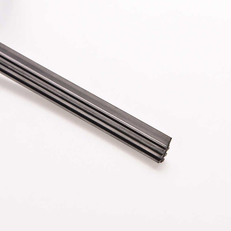 6mm 26 ''/24'' Auto Bus Rubber Universele Bracketless Frameless Ruitenwisser Wassen Blade Refill Zachte vervanging