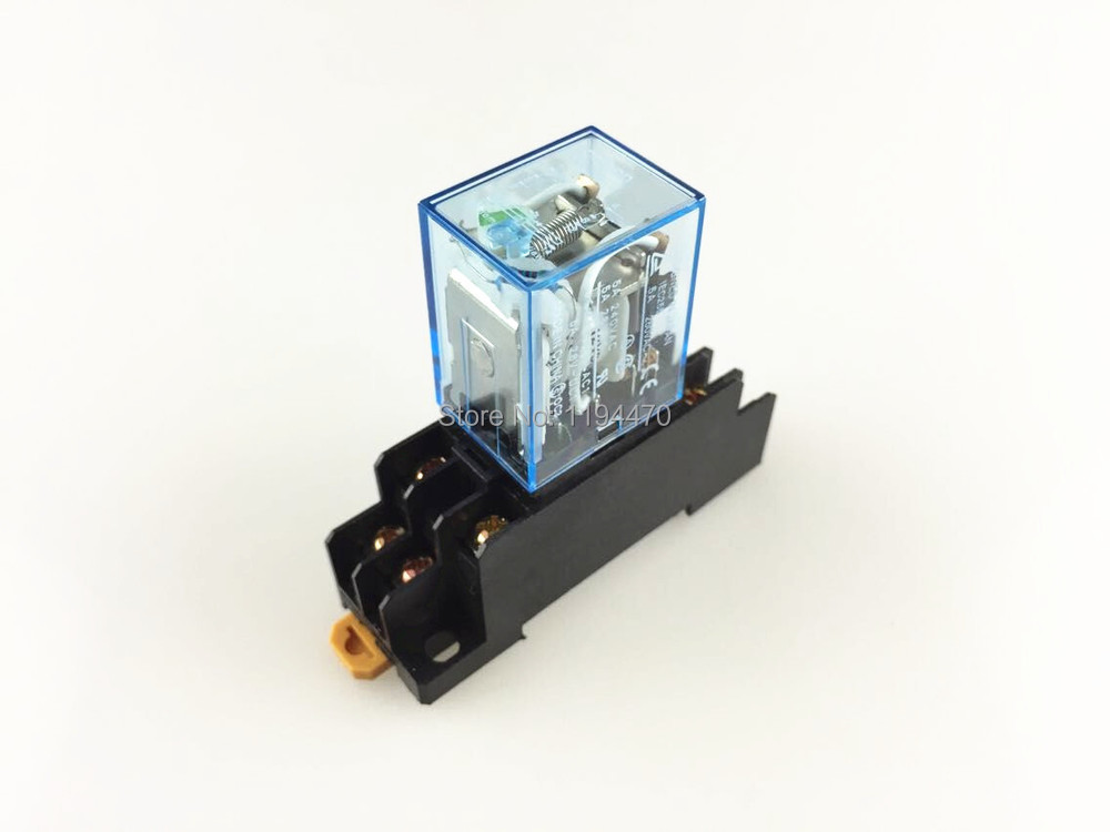Подробнее о 1 set Power Relay MY2NJ 12V DC Coil Miniature Relay DPDT 2NO 2NC 8 Pins 5A 240VAC MY2N-J HH52P  With PYF08A Socket Base free shipping dc 12v coil electromagnetic relay 8 pins dpdt 2 no 2 nc jqx 10f 2z