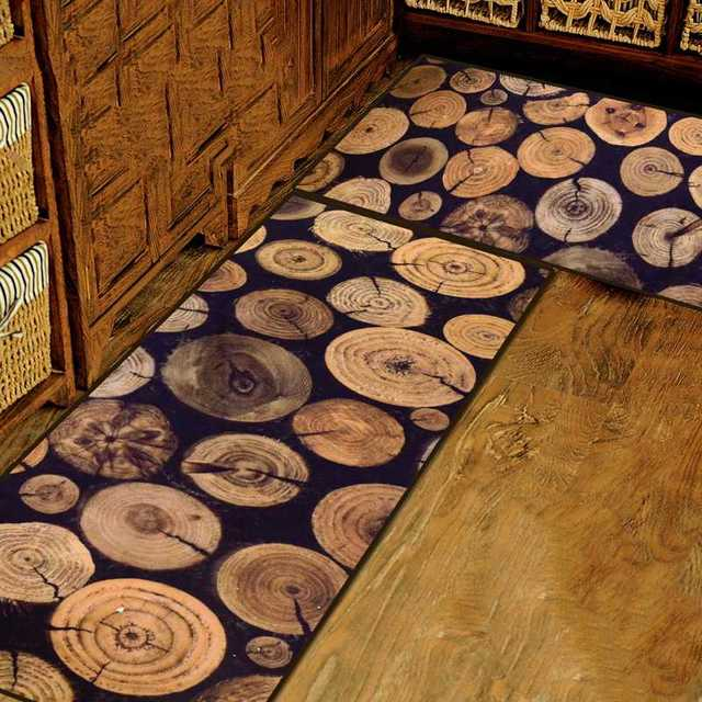 Kingart Antique Wood Tree Door Mats Slip Resistant Kitchen Floor Mat Living Room Rug And Carpets For Decoration