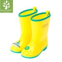 Kocotree 2017 Kid Marke Wasserdichter Schuh Baby Mädchen Kinder PVC Rosa Regen Stiefel Kleinkind Junge Wellington Gelb Booties