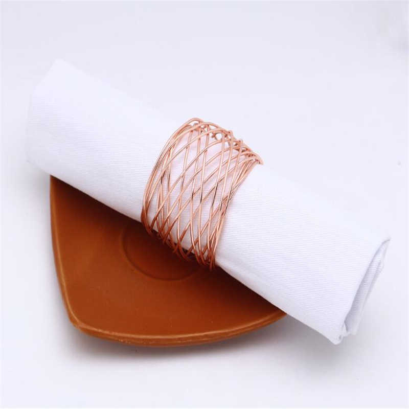 Home Kitchen Napkin Ring Serviette Rings Napkin Holder West Dinner Towel Napkin Ring Party Table Decoration Gadgets