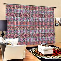 Luxury Blackout 3D Window Curtain For Living Room red curtains for bedroom Blackout curtain
