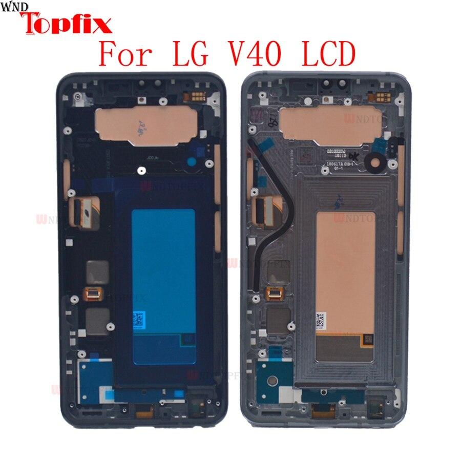 100% протестированный 6,5 дюймовый ЖК дисплей для LG V40 ThinQ ЖК дисплей кодирующий преобразователь сенсорного экрана в сборе с заменой рамки для