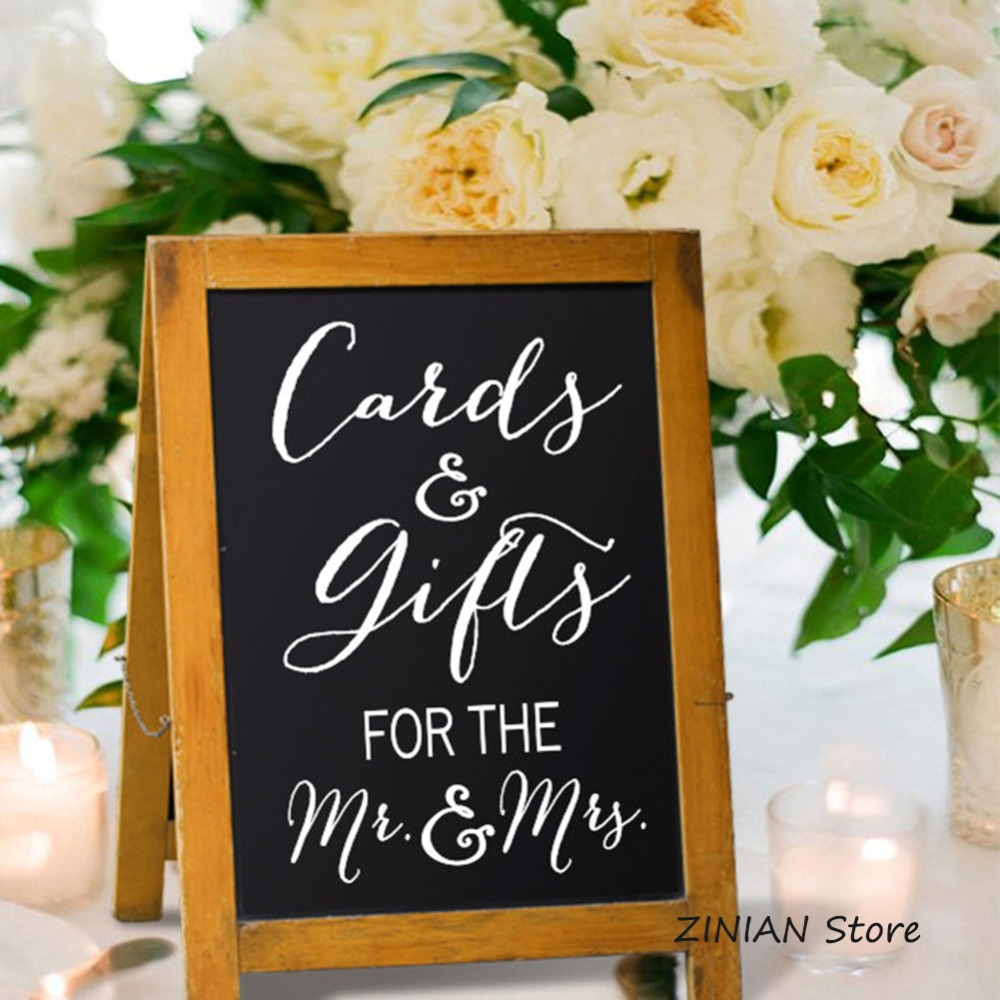 Gift Table At Wedding Reception: Cards And Gift Sign Decal Wedding Reception Gift Table
