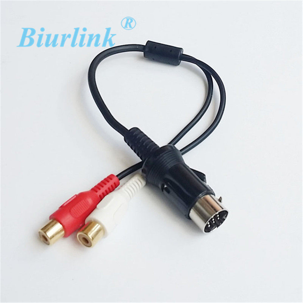 Online Shop Biurlink For Kenwood 13pin Cd Changer Jack Plug Aux Wiring Diagram Further Head Unit On Car Audio Rca To 13 Pin Cable Adapter Player