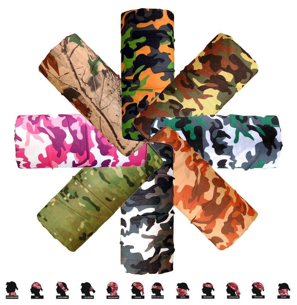 Camo Paisley Bandana Army Headband Camouflage Bandana Bicycle  Neck Tube Face Mask Bandana Scarf Face Mask Headscarf 25*48cm