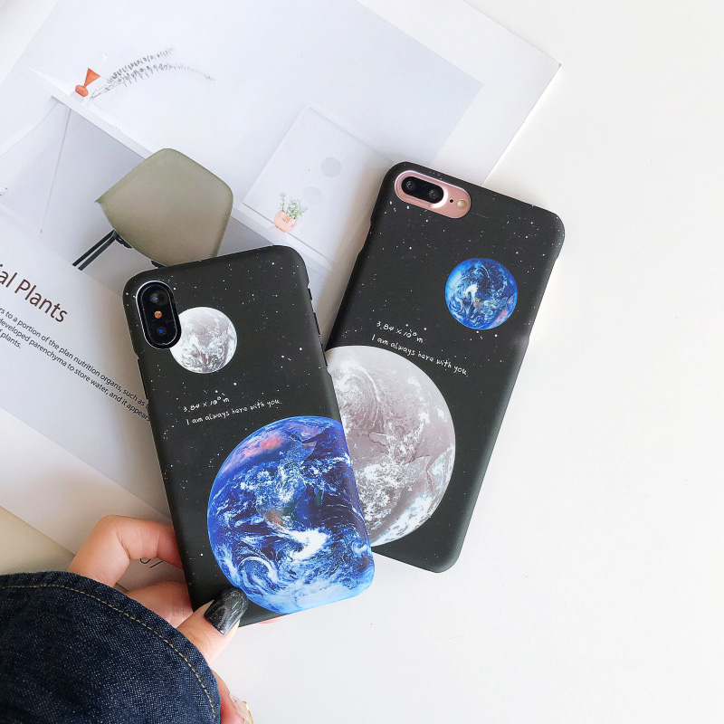 KIP7P1253_6_JONSNOW Phone Case For iPhone 6 6S 7 8 Plus Earth Planet Starry Sky Patterns PC Hard Case for iPhone X XR XS Max Back Cover Capa Fundas