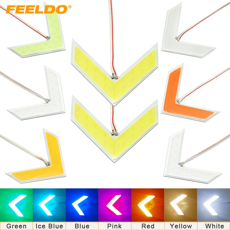 1PC Auto COB 18 SMD 18 LED Arrows Lamp Indicator Safe led Panels Car Side Mirror Turn Signal Light 7-Color # FD-1437 new arrows lamp indicator safe panels car side mirror turn light for ford fusion gt ka kuga maverick mondeo st mustang taurus x