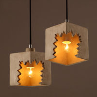 Industrial Vintage Edison Creat LED Odontoid Cement Light Chandelier Loft Fixture Ceiling Lamp Droplight Lighting