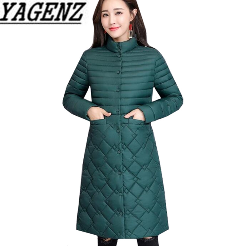 Warm Slim aged Jacket 2018 Long Female Cotton Women 4xl Size Green Casual Coat dark purple black Middle Down Solid Orange Clothing Overcoat Plus Winter Sauce Elegant wE0pW0qX