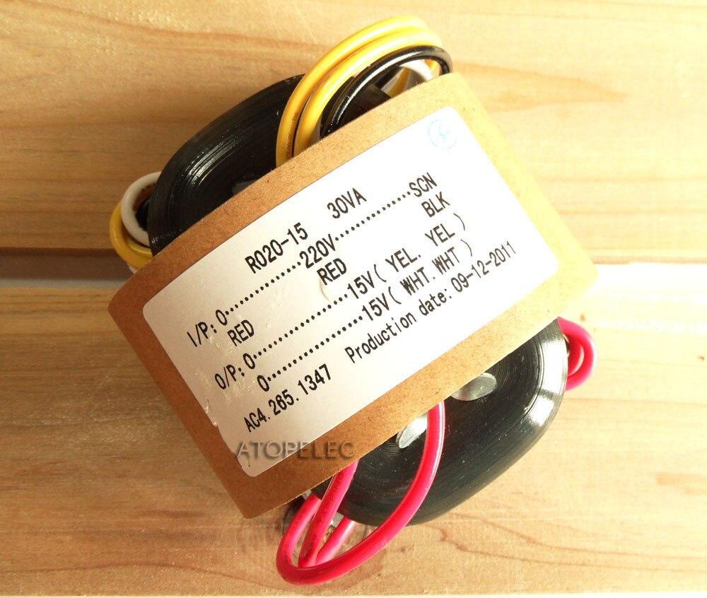 220V 30W R-Core Transformer 15V+15V for Audio Amplifier Preamp AMP DAC R Core