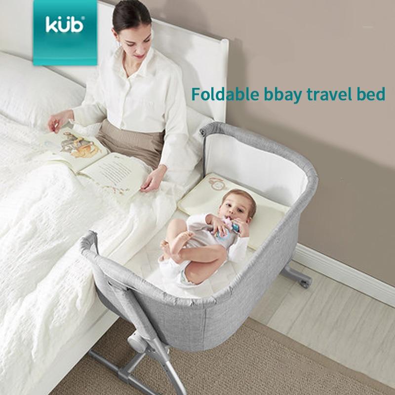 Brand Baby Bed Babyfond Crib Can Splicing Big Bed Newborn Multifunctional Folding Portable Anti-spitting Newborn Sleep Nest