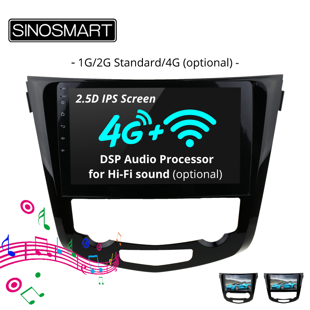 SINOSMART Stock in Russia EU 2.5D IPS Car Navigation GPS Player for Nissan X trail/Qashqai 2013 2019 Support 360 view system-in Car Multimedia Player from Automobiles & Motorcycles