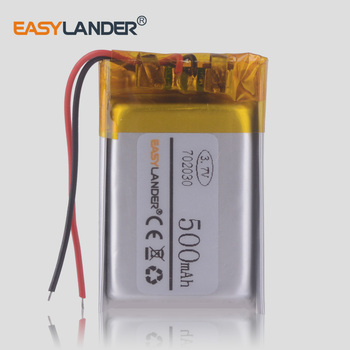 Polymer lithium battery 3.7v 702030 500mah Sex Toys GPS Tracker Smart Wristband MP3 DVR car dvr video recorder watch image