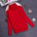2-10Y Girls Boys Autumn Winter Cartoon Sweaters Children Kids Knitted Pullover Warm Outerwear Turtleneck Sweater K-C1547-1
