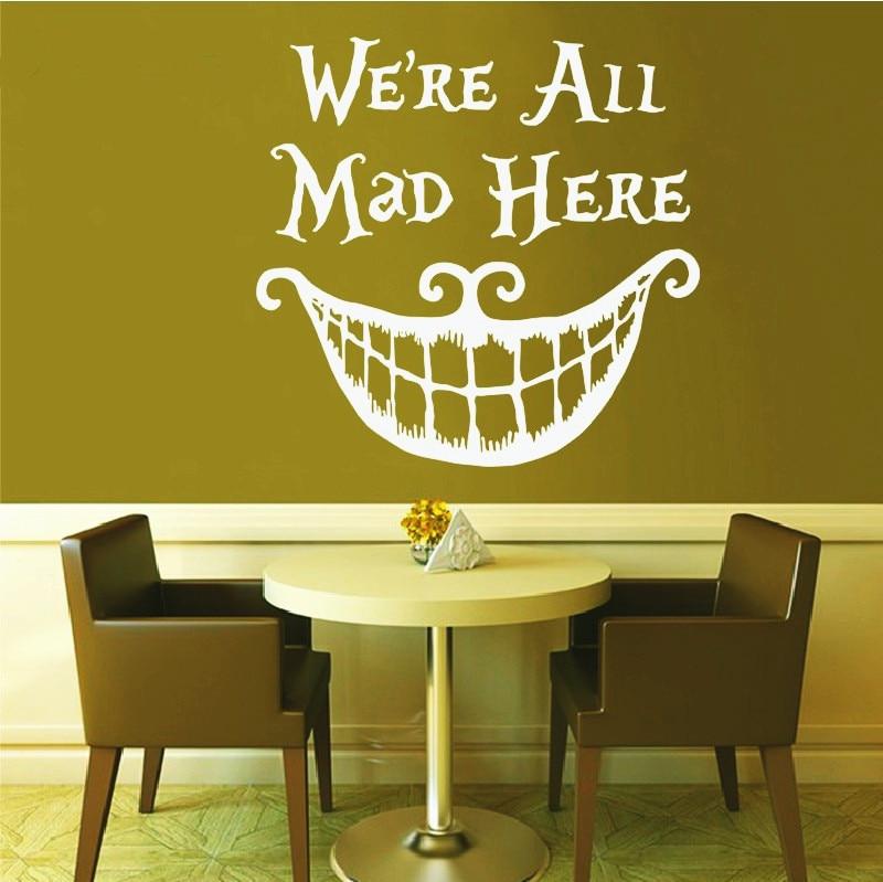 Were All Mad Here   Giclee   alice in wonderland