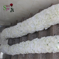 SPR High quality 2m/lot wedding flower wall stage or backdrop decorative wholesale artificial flower table centerpiece