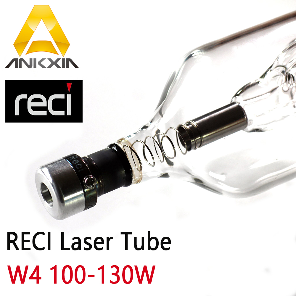 Co2 Laser Lens Tube Reci W4 100W 120W 130W Tubes Z4 For Co2 Laser Cutting Engraving Machine Dia 80mm Length 1200mm S4 V4 l4 reci w4 100w co2 laser tube wooden case box packing length 1400 dia 80mm for co2 laser engraving cutting machine s4 z4