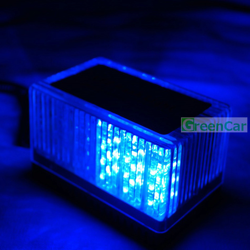 1pcs 4 Flashing Modes 48LED Magnetic Mounted Car Roof Strobe Warning Light Emergency Vehicle Forklift Truck Police Cube Dome 8x4 magnetic 32 led blue red flashing strobe light for roof top plug n play 5pcs