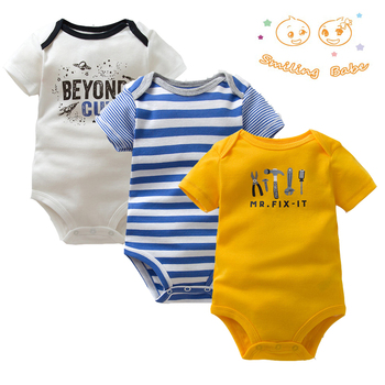 3PCS/LOT Soft Cotton Baby Bodysuit Fashion Baby Boys Girls Clothes Infant Jumpsuit Overalls Short Sleeve Newborn Baby Clothing 3pcs lot 2017 spring baby rompers newborn baby boys girls clothes infant girls boys jumpsuit little kids cotton soft overall