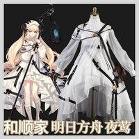 Game Arknights Nightingale Cosplay Costume Halloween Carnival Dress Women Anime Uniform H