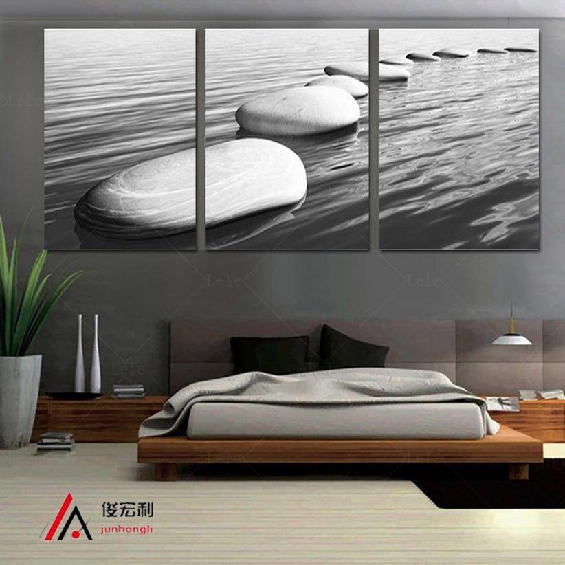 Moderní umění Sea Stone Stone Dekorace domů Obrazy na plátně 3 kusy Modulární obraz na plátně na zeď do obývacího pokoje