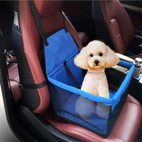 Pet Carrier Dog Car Booster Seat Cover Hammock Waterproof Oxford Rear Back Cushion Car Mat Small Dog Cat Car Seat Mat Protector