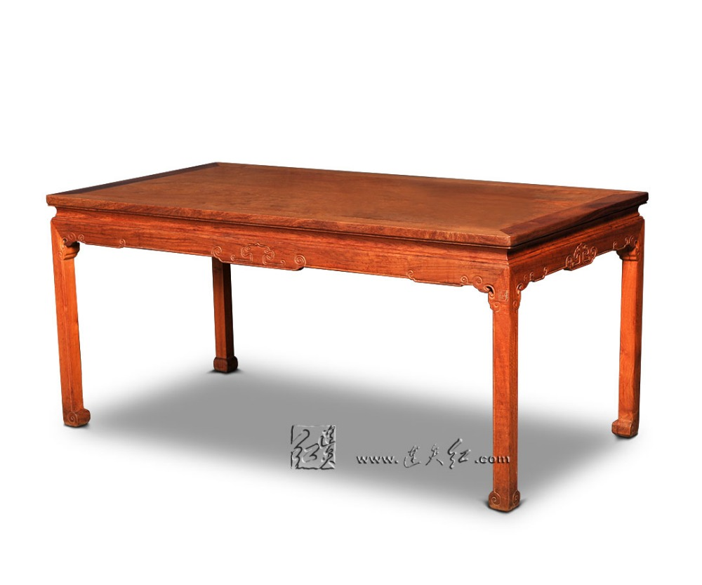 Long Wood Desk Us 784 7 5 Off Rosewood Long Dining Table Rectangle Solid Wood Desk Home Living Room Annatto Furniture Redwood Office Board Classic New Fashion In