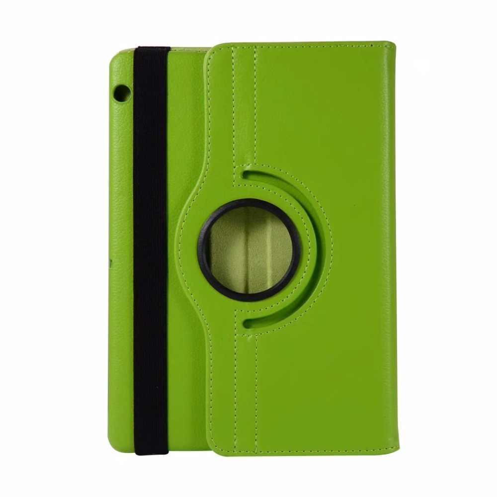 Para Huawei MediaPad T3 9,6 10 tablet caso giratorio 360 caso de la cubierta de piel para Huawei MediaPad T3 9,6 AGS-L09 AGS-L03 caso + Pen