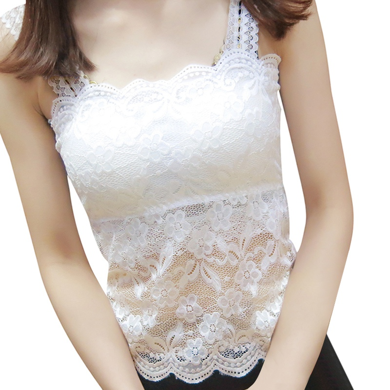 2019 New Women Sexy Lace Bralette Bra Bustier Top Black Cropped Blusas Vest Tank Tops Camisole haut femme-in Tank Tops from Women's Clothing