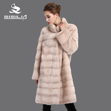 SISILIA 2016 New women real  fur coats,Genuine Leather,Mink fur coat,Sleeve detachable down jacket ,Fashion Slim coats of fur