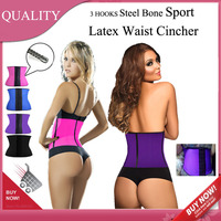 Ann Chery Latex Waist Cincher Sport Waist Trainer Women Slimming Body Shaper Rubber Corset Fitness Gaine