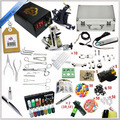 2016 professional tattoo kits 2 guns tattoo machine kits tattoo piercing kits dc power supply and tools tattoo ink for lip