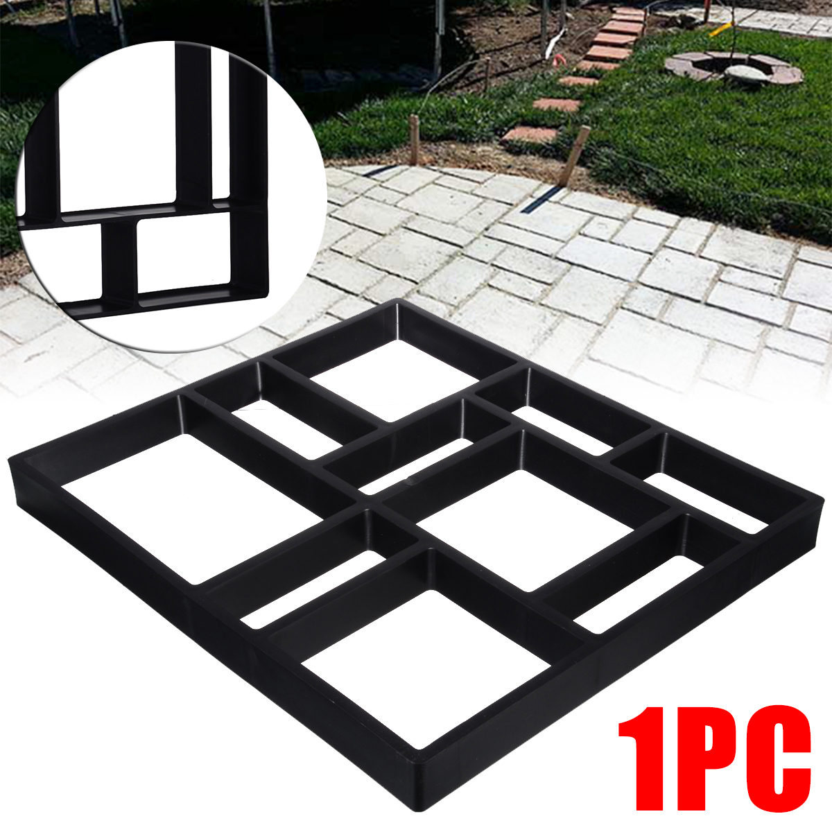 DIY Garden Pavement Mold Garden Walk Pavement Concrete Mould Paving Cement Brick Stone Road Path Maker 45*40cm-in Garden Floor Boards from Home & Garden