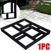 DIY bahçe kaldırım kalıp bahçe yürüyüşü kaldırım beton kalıp kaldırım çimento tuğla taş yol yolu Maker 45*40cm