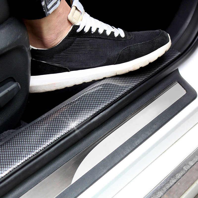7 см * 2 м наклейка на автомобиль из углеродного волокна резиновый защитный кожух полосы порога протектор