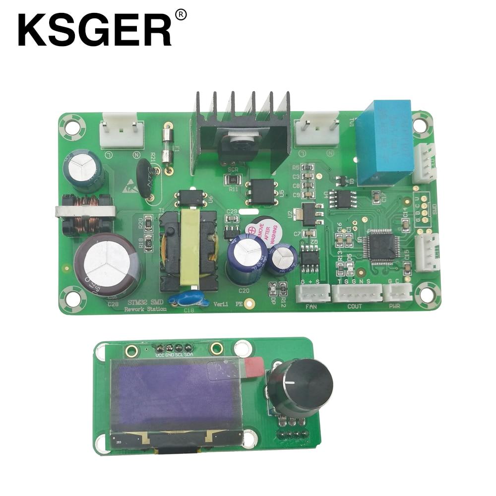 KSGER STM32 OLED Hot Air Gun Soldering Station 1 3 Size Screen Electric Welding Rework Resoldering