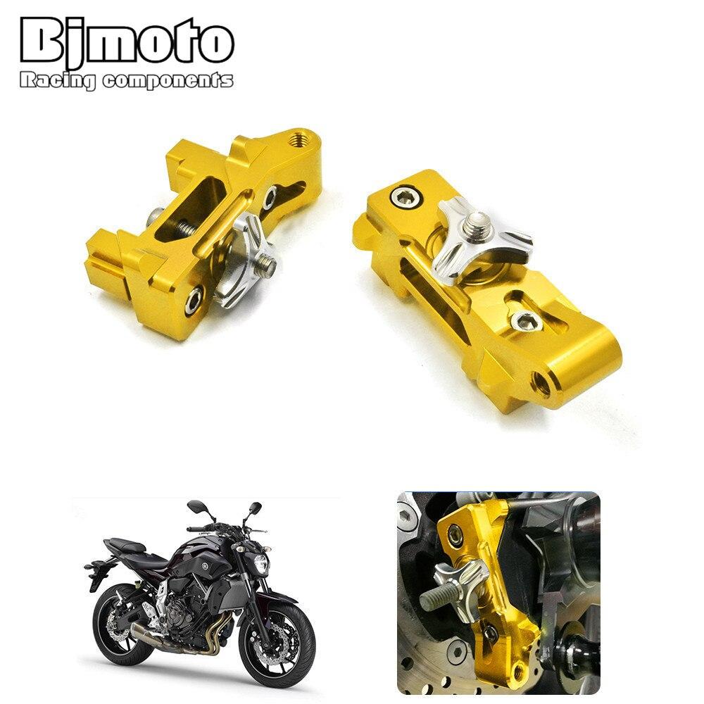 Bjmoto Motocross Dirt Bike moto nouveau CNC ajusteur de chaîne arrière Kit de bloc d'essieu pour Yamaha MT-07 MT07 2013-2018 FZ-07 2015-2018