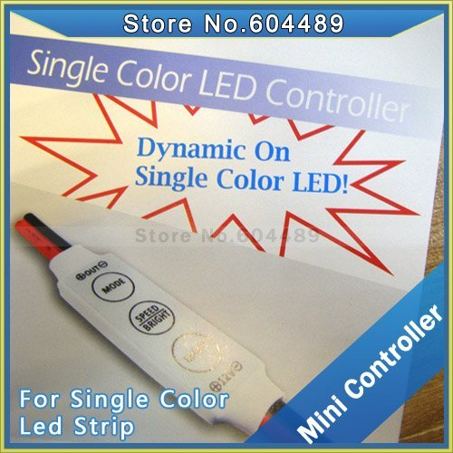 10pcs/lot LED dimmer for single color led strip, adjust brightness & speed, DC 12V 144W minitype light modulator free shipping