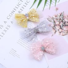 Hot Sell Children Kids Hairpin Star Sequin Bow Girls Hair Accessories Jewelry Festival Gifts