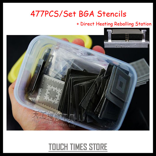 2013 Newest 477PCS/Set BGA Stencils Template Direct Heating Reballing Stencil Kit for Laptop Cell Phone Game Console