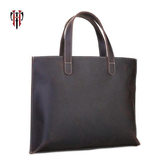 TIANHOO натуральная кожа коровья кожа мужские ручные сумки и сумки через плечо водонепроницаемые портфели 14 дюймов сумки для ноутбука