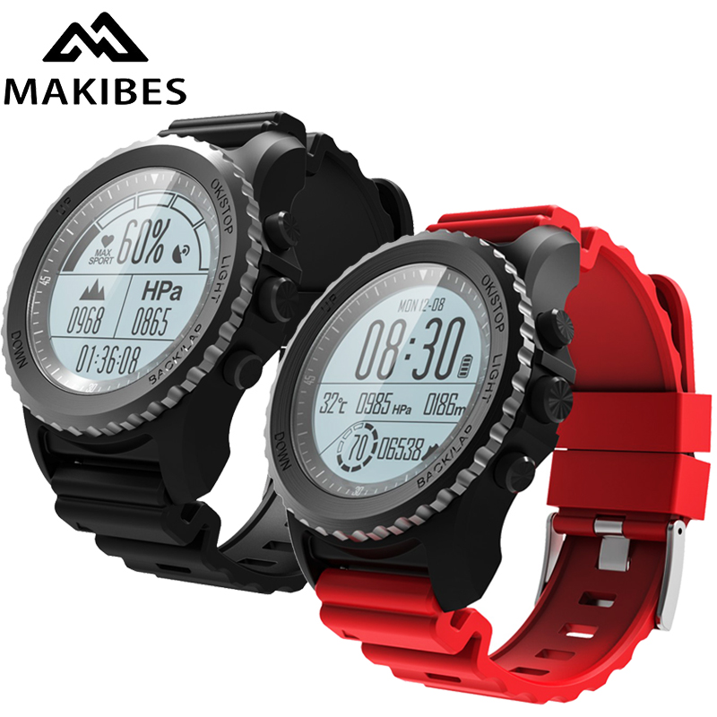 Makibes G07 Bluetooth GPS Sport Watch Smart Watch IP68 Waterproof Dynamic Heart Rate monitor Multi-sport Men Watch GPS tracker makibes br2 smart watch men gps smartwatches electronic compass heart rate monitor multi sport dynamic optical sports watch