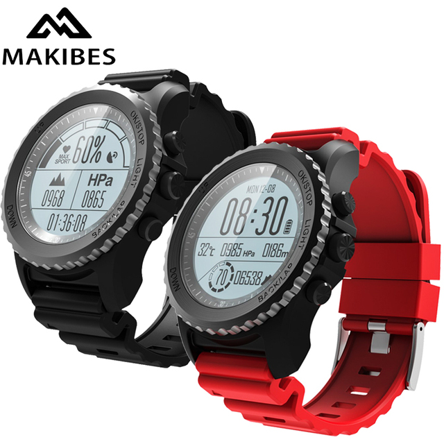 Makibes G07 Bluetooth GPS Sport Watch Smart Watch IP68 Waterproof Dynamic Heart Rate monitor Multi-sport Men Watch GPS tracker