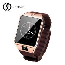 SOGRACE Smartwatch Bluetooth DZ09 Smart Watch Android Phone Call SIM TF Card for IOS Apple iPhone Samsung HUAWEI PK Q18 T8 U8