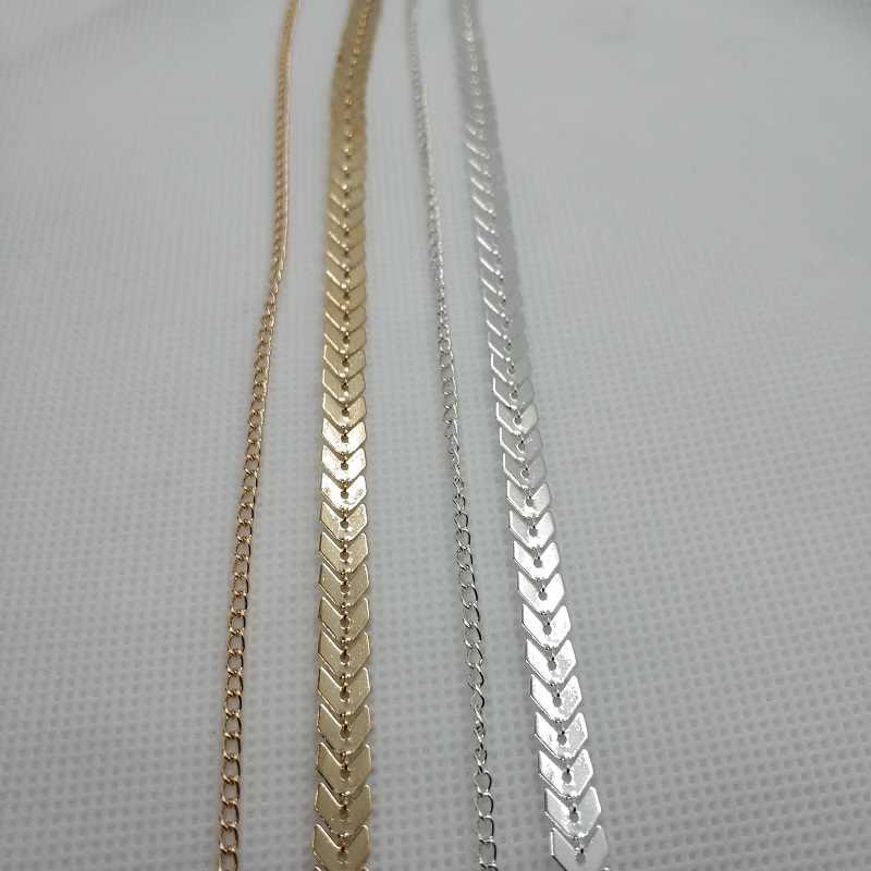 אופנה רב חץ קולר שרשרת נשים שתי שכבות שרשראות אדרה מטוס שרשרת שטוחה שרשרת Chocker על צוואר תכשיטים