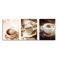Coffee sanlian figure 90x40 cross stitch diy full diamond drawing square supplies embroidered paste Mosaic home decoration